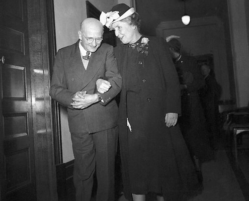 Helen Keller with Brisbane Lord Mayor Ald Chandler in 1948