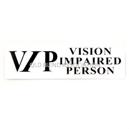 VIP Vision Impaired Person Badge With Rectangular Magnet