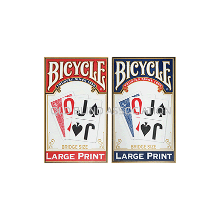 Bicycle Large Print Playing Cards - Single Deck