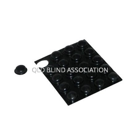 Bump Ons Large Black Dots 10mm Pack of 20