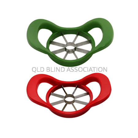 Apple Wedger and Corer Red and Green Products