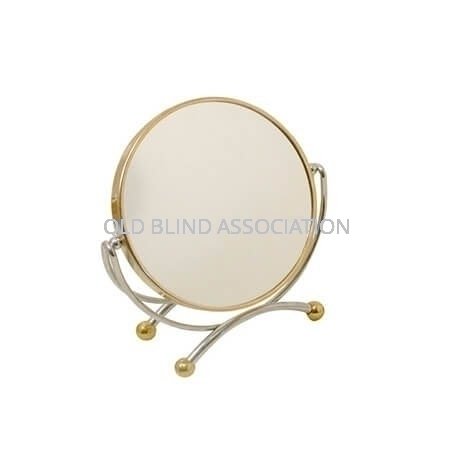 7x Two Tone Frame Mirror On Stand 11.5cm Diameter