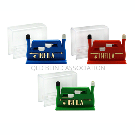 Infila Needle Threader in Blue, Red and Green