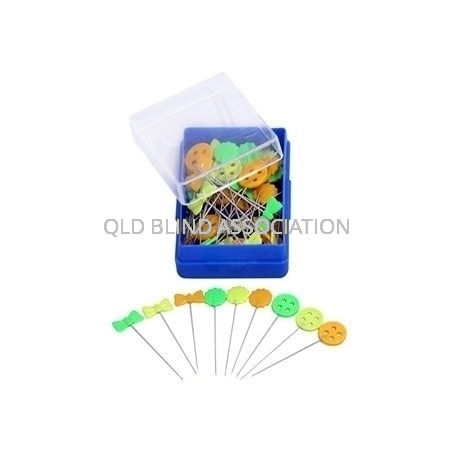 Quilting Pins With Neon Flower Heads 50 Pack