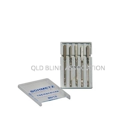 Handicap Easy Threading Machine Needles 5 Pack Size 12
