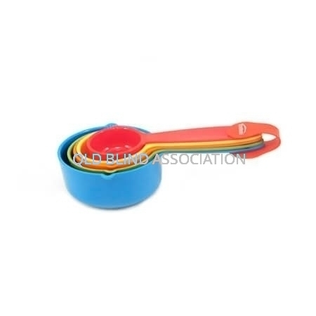 Measuring Cups Bright Coloured Set Of 5