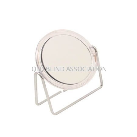 5x Clear Frame Mirror On Stand 12.5cm Diameter