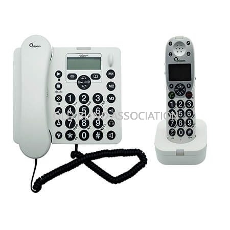 Amplified Cordless And Corded Phone With Answering System