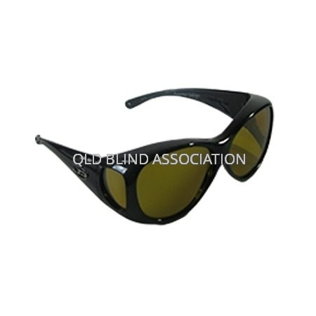 Lotus Metallic Black Frame Yellow Lens Fitover Medium