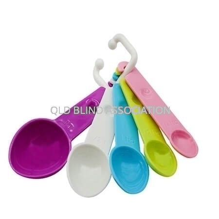 Measuring Spoons Pastel Coloured Set Of 5
