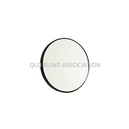10x Black Frame Suction Mirror 8.5cm Diameter