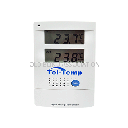 Tel-Temp Talking Digital Indoor/Outdoor Thermometer