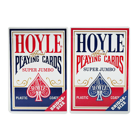 Hoyle Super Jumbo Cards Single Deck Red and Blue Colour Variants