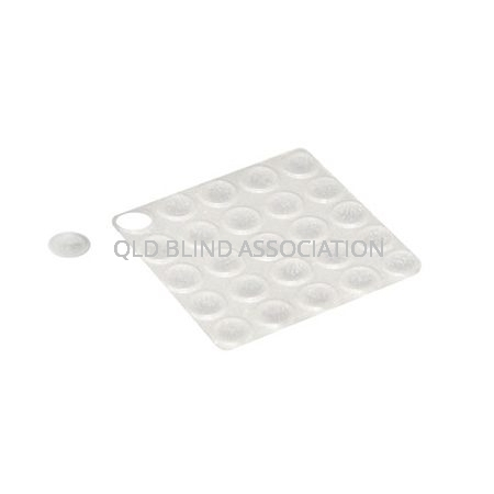 Bump Ons Small Clear Round Pack of 12