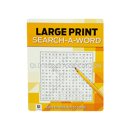 Large Print Search a Word in Yellow