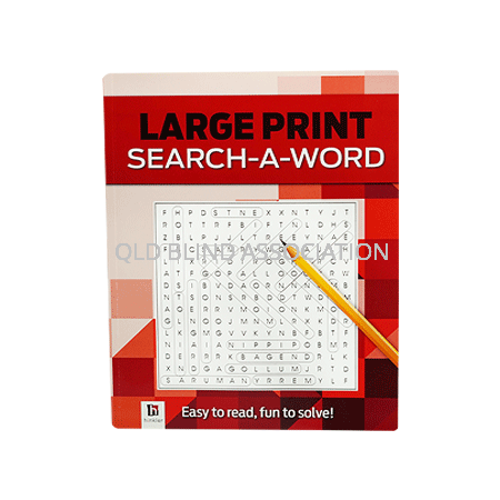 Large Print Search-A-Word Red