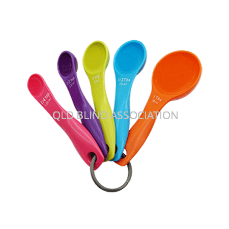 Measuring Spoons Rainbow Coloured Set Of 5
