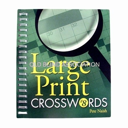 Large Print Crosswords Number 8