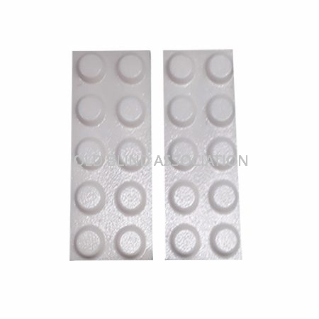 Bump Ons White Flat Top Round Pack of 20