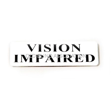Vision Impaired Badge With Rectangular Magnet