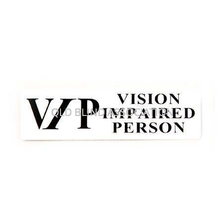 VIP Vision Impaired Person Badge With Pin