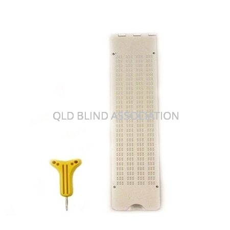 Braille Frame 4 Lines Lightweight Metal With Stylus