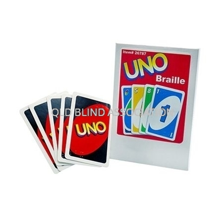 Uno Braille Cards