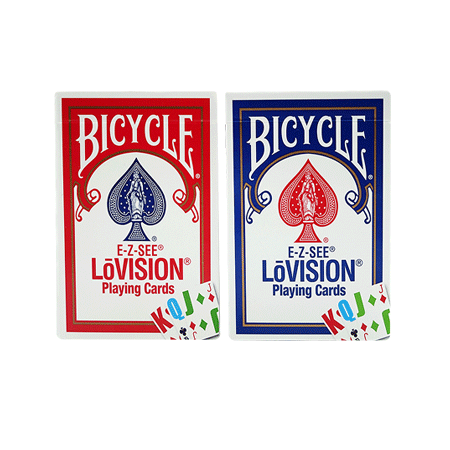 4 Bicycle E Z See Low Vision Playing Cards