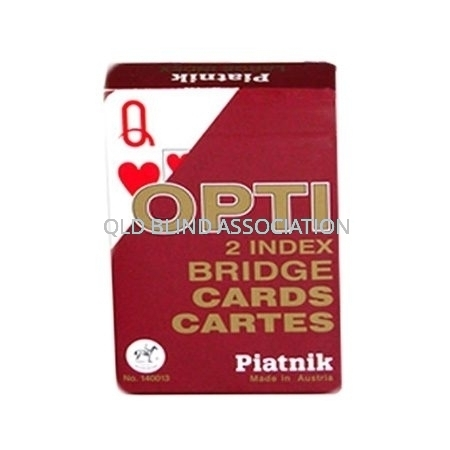 Opti Large Index Bridge Cards