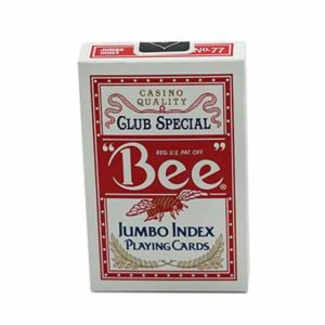 Bee Jumbo Index Poker Cards