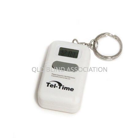 Talking Keychain Clock White