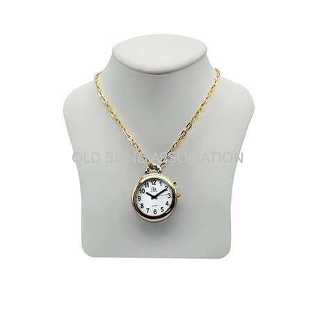 Ladies Two Tone Talking Watch 1 Button Pendant