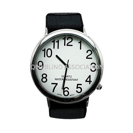 Unisex Low Vision Watch with Large Fabric Stretch Band
