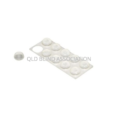Bump Ons Medium Clear Dots Pack of 10