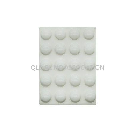 Bump Ons Medium White Round Pack of 20