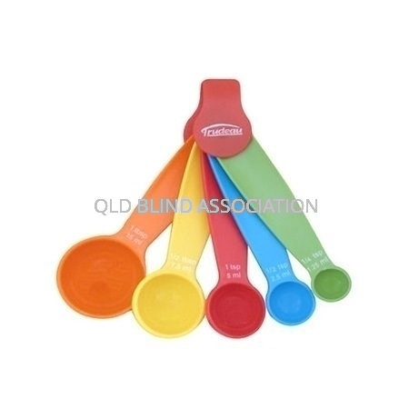 Measuring Spoons Bright Coloured Set Of 5