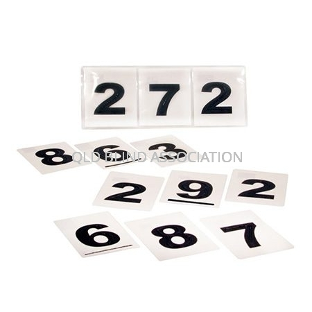 QBA Bus Number Sleeve – 12 Braille And Tactile Bus Numbers