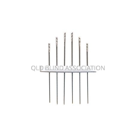 Easy Threading Needles 6 Pack Size 4/8