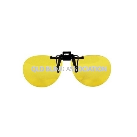 Yellow Aviator Glasses Clip On
