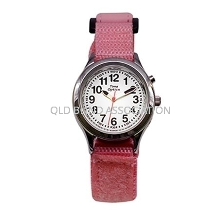 pink youth Velcro talking watch 1 button