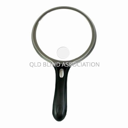Circular LED Magnifier 10cm 2X Magnification