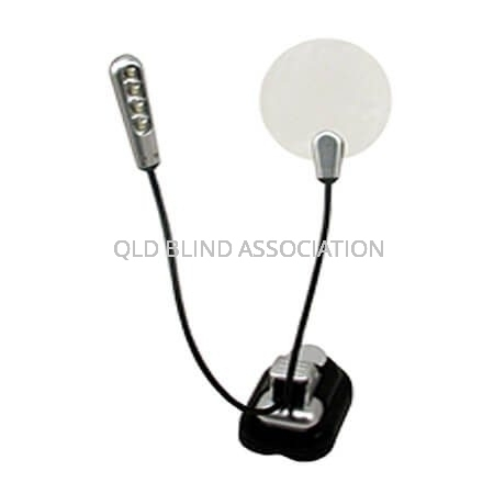 LED MicroMax Light And 2.25x Magnifier With Clip On Stand