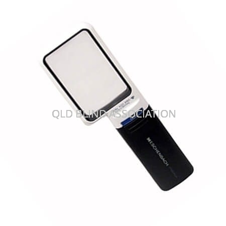 Mobilux LED 3.5x Illuminated Magnifier Handheld And Battery Operated 7.5 x 4.5cm Rectangular
