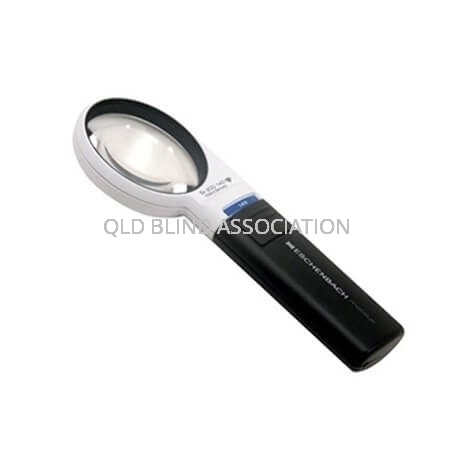 Mobilux LED 5x Illuminated Magnifier Handheld And Battery Operated 5.5cm Diameter