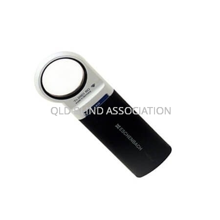 Mobilux LED 7x Illuminated Magnifier Handheld And Battery Operated 3.5cm Diameter