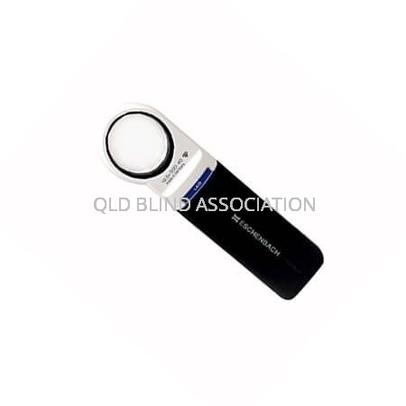 Mobilux LED 12.5x Illuminated Magnifier Handheld And Battery Operated 3.5cm Diameter