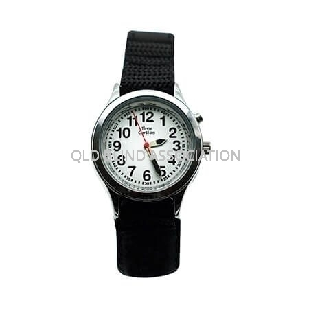 Youth Talking Watch 1 Button Black Velcro Band
