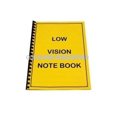 QBA A4 Low Vision Note Book 60 Yellow Pages