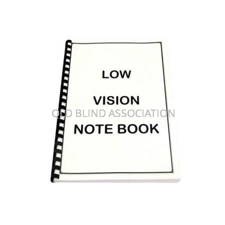 QBA A4 Low Vision Note Book 60 White Pages