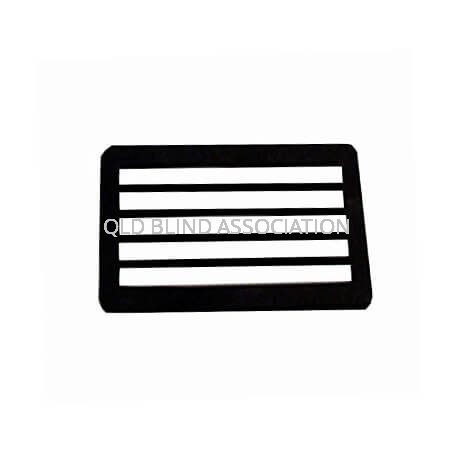 Envelope Writing Guide 5 Line Black Plastic